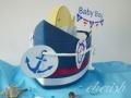 ヨットのダイパーケーキ(おむつケーキ)