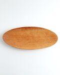 村上圭一 楕円彫込皿(サクラ 350×140×35)