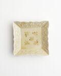 ヨシノヒトシ 黄砂釉角豆皿