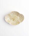 ヨシノヒトシ 黄砂釉木瓜豆皿