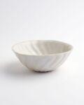 ヨシノヒトシ 白瓷捻貝殻鉢(M)