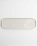 ヨシノヒトシ 白瓷隅入板皿(L)