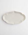 ヨシノヒトシ 白瓷輪花オーバル皿(M)