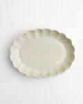 ヨシノヒトシ 青白瓷膾皿