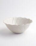 ヨシノヒトシ 白瓷捻輪花鉢