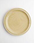 ヨシノヒトシ 黄砂釉7.5寸リム皿