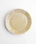 ヨシノヒトシ 黄砂釉双魚文4.5寸皿