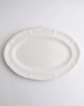 亀田文 ピューターオーバル皿(白釉)