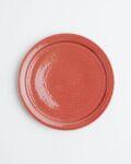 土井康治朗 紅赤6寸リム皿