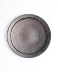 土井康治朗 黒金釉6寸リム皿