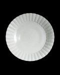 阿部春弥 白磁ひまわり7.5寸皿