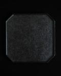 蝶野秀紀 和紙貼八角正方盆(黒)
