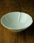 土井善男 乳白釉5.5寸木瓜鉢