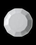 土井善男 乳白十二角7.5寸皿