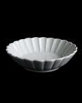 土井善男 乳白6.5寸輪花鉢