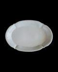 林健二 白釉楕円皿