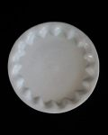 林健二 白磁7寸波深皿