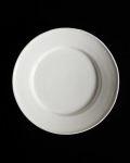 石田誠 6.5寸リム皿(ホワイト)