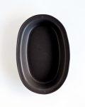 亀田文 オーバル耐熱リム鉢(黒)