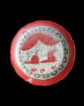 松浦ナオコ ケーキ皿(お城のパレード)