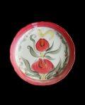 松浦ナオコ ケーキ皿(鳥とイングリッシュローズ)