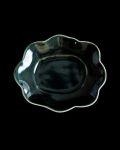 水谷和音 瑠璃釉変形小皿