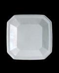 新道工房 白磁隅切角鉢