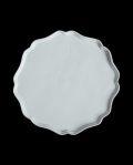 新道工房 白磁八寸花弁平皿