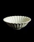 田村文宏 白磁菊形5寸鉢