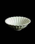 田村文宏 白磁菊形4寸鉢