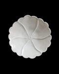 田村文宏 白磁5寸牡丹皿