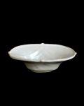 豊増一雄 白瓷七宝楕円小鉢