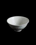 豊増一雄 白瓷印花茶杯(小)