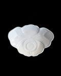 豊増一雄 白瓷菓子皿(牡丹)