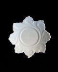 豊増一雄 白瓷菓子皿(輪花)