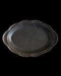 ヨシノヒトシ 黒褐釉カレーオーバル皿