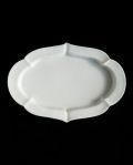 ヨシノヒトシ 白瓷輪花オーバル深皿