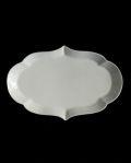 ヨシノヒトシ 白瓷輪花オーバル皿(L)