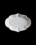 ヨシノヒトシ 白瓷輪花オーバル豆皿
