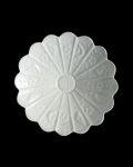 ヨシノヒトシ 白瓷5寸輪花鉢