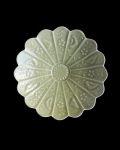 ヨシノヒトシ 青瓷5寸輪花鉢