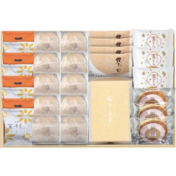 【千鳥饅頭総本舗の代表銘菓の詰合せいかがですか】木箱詰合せ(大)秋 千鳥屋の贈り物