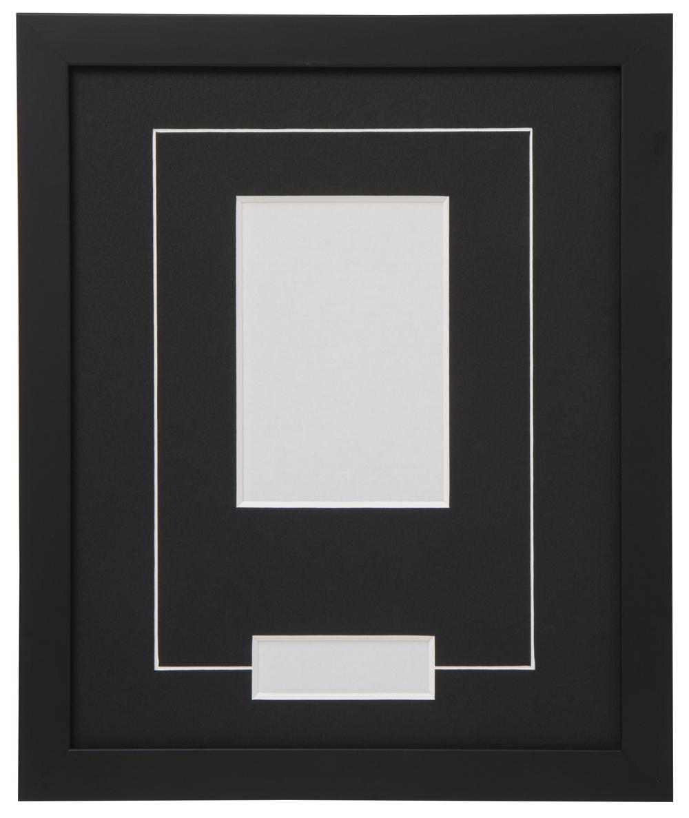 高級木製額縁 FB ブラック 小窓付 L版/縦