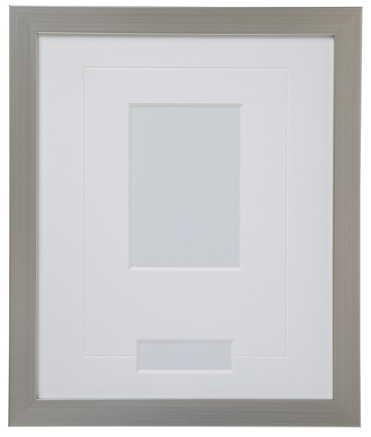 高級木製額縁 FB シルバー 小窓付 2L/縦