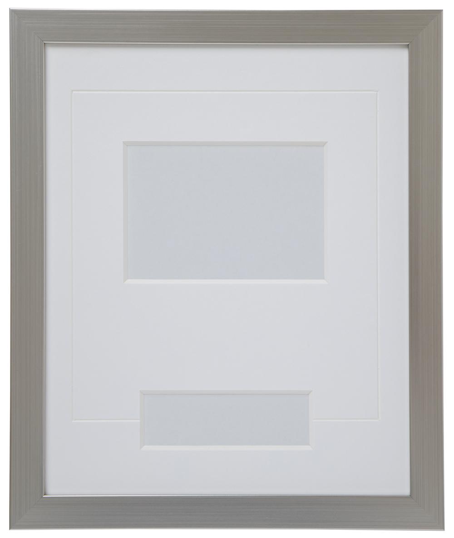 高級木製額縁 FB シルバー 小窓付 L版/横