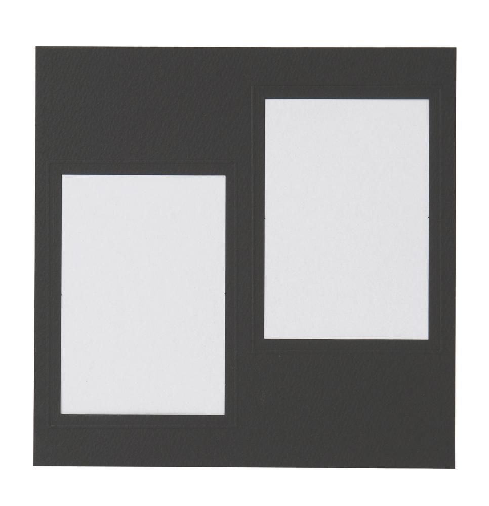 NEWハートスケープ用 中台紙 L判2面角 ブラック 2枚入り