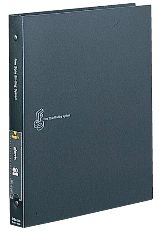 フリースタイルバインディングシステムアルバム FS ネガ ブローニ (6x4.5 6x6 6x7 6x9) 黒 台紙15枚入り