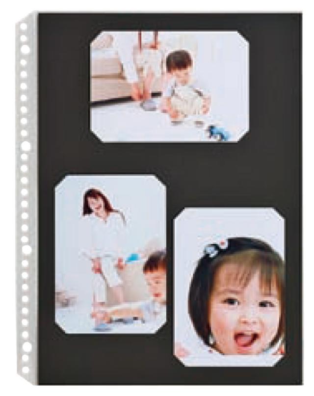 FS プリント替台紙 ブラックシート A4・L判3面兼用 1パック(10枚入り) FSプリント用、L-5、ポケットファイル共通