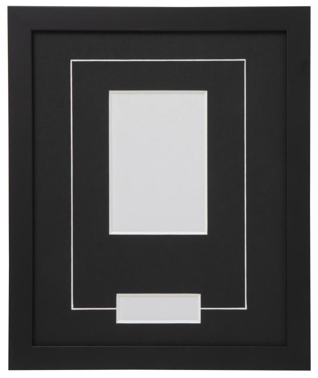 高級木製額縁 FB ブラック 小窓付 2L/縦
