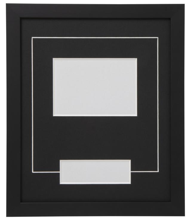 高級木製額縁 FB ブラック 小窓付 2L/横